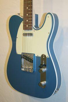 Fender Custom Shop Telecaster Custom NOS (Lake Placid Blue). Gorgeous double-bound 'New Old Stock' Tele. Based on early '60s spec. £1999 #fender #telecaster #tele #vintage #1960s #guitar