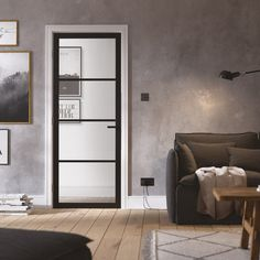 Browse the Internal Black Primed Industrial Style Soho Clear Glass Door (SOHBLA) from LPD at Leader Doors. Soho, Primed Doors, Indoor Doors, Black Doors, White Doors, Room Doors, Single Doors, Industrial Style, Clear Glass