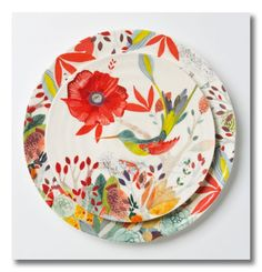 Gorgeous dinnerware! Would love this for a colorful brunch
