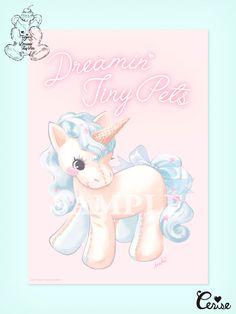 Soft Tattoo, Pastel Goth Art, Unicorn Images, Unicorn Horse, Kawaii, Girly Pictures, Vintage Cartoon, Vintage Artwork, Animal Party