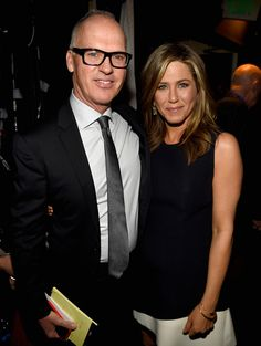 Michael Keaton et Jennifer Aniston Michael Keaton, Jennifer Aniston, John Douglas, Justin Theroux, Sherman Oaks, Rachel Green, Hollywood, Film Director, Brad Pitt