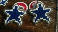 Perler beads logo of the new england patriots designed for Dallas cowboys arts and crafts