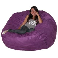 Amazon.com - Cozy Sack 5-Feet Bean Bag Chair, Large, Chocolate - Cozy Sac