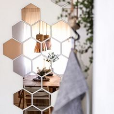 Art Installation - This is less hack and more artful whimsy, but you can really let your creativity fly using the Hönefoss copper hexagon mirrors from Ikea. Each set comes with 10 hexagons that can be hung in any arrangement you choose, like the above as seen on Heimatbaum. They make a perfect installation behind a dining room table, in an entryway or maybe even above your bedroom headboard. The options are endless and this is so easy.