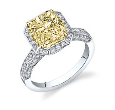 The precious metal of your choice forms this engagement ring ready to set your chosen center diamond. This beautiful setting is designed to hold a princess, radiant, asscher, or cushion cut center diamond. Shopping for the perfect art deco engagement rings style for your intended can be tricky, but DiamondMansion.com's amazing collection of elegant settings and 100 % natural, untreated diamonds makes finding the perfect ring easy and fun!