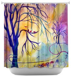 The Landing Place Shower Curtain - contemporary - Shower Curtains - DiaNoche Designs