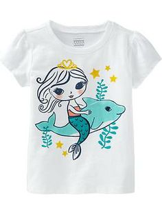 ***Puff-Sleeeve Graphic Tees for Baby
