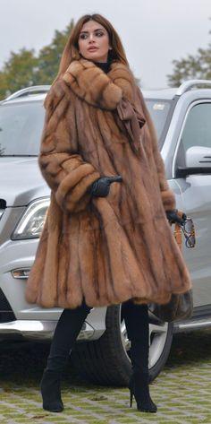 NEW 2016 NATURAL RUSSIAN SABLE SWINGER FUR COAT CLAS JACKET CHINCHILLA MINK LONG | eBay