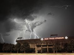 Jack Trice Stadium- There is a severe weather alert, a Cyclone has touched down. Opposing fans, take cover.