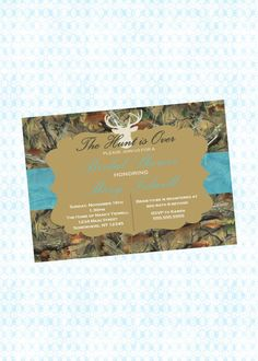 The Hunt is over Teal and Camo Printable by CherryDigitalDesign