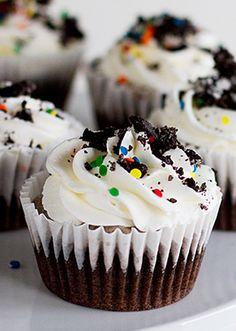 Cookies and Cream Ice Cream Cupcakes