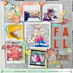 Fall is my fave | Autumn layout by Jennifer Kinkade
