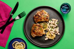 Find the recipe for Roasted Chicken Thighs with White Beans, Lemon, and Capers and other bean recipes at Epicurious.com