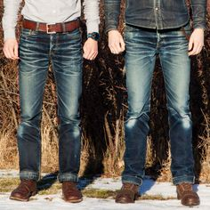 Denim Shirt With Jeans, Faded Jeans, Nudie Jeans, Jeans Style, Jeans And Boots, Denim Shirts, Levis, Blue Jeans, True Religion Jeans Men