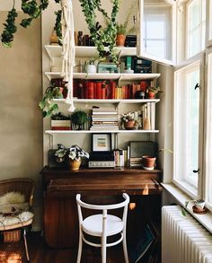 Theo's Charming, Bohemian-style Abode in Berlin (my scandinavian home) - . - Theo's Charming, Bohemian-style Abode in Berlin (my scandinavian home) – - Decor, Home Office Design, Interior, My Scandinavian Home, Home Decor, Trendy Home, Apartment Balcony Decorating, Apartment Decor, Retro Home Decor