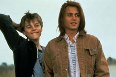 """""""What's Eating Gilbert Grape?"""" movie still, L to R: Leonardo DiCaprio, Johnny Depp. DiCaprio overshadowed Depp in this film from beginning to end - it was Leo's breakout film role that won him an Academy Award nomination for Best Supporting Actor. Johnny Depp Movies List, Johnny Depp Characters, Young Johnny Depp, Johnny Depp Biography, Gilbert Grape, Junger Johnny Depp, Movies To Watch List, Videogames, Young Leonardo Dicaprio"""