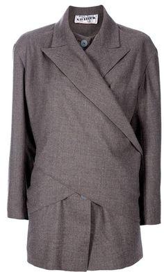 e83949694d Jean Paul Gaultier - Brown Cross Over Jacket - Lyst