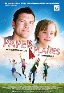 Paper Planes movie review 2015 stars Sam Worthington & Ed Oxenbould (also starred in Alexander & the terrible, horrible, no good, very bad day 2014)