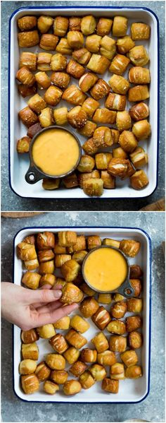 Homemade Soft Pretzel Bites Recipe on twopeasandtheirpo… Easy to make at home and perfect for parties, game day, and snacking! Homemade Soft Pretzel Bites Recipe on twopeasandtheirpo… Easy to make at home and perfect for parties, game day, and snacking! Game Night Snacks, Game Day Food, Healthy Snacks, Appetizers For Party, Appetizer Recipes, Snack Recipes, Cooking Recipes, Game Day Recipes, Pool Floats