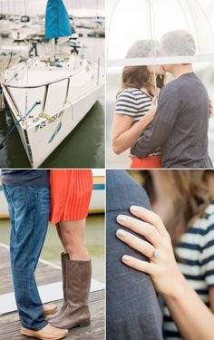 If you live anywhere near a pier or beach, or perhaps your husband-to-be is with the Navy, ship captain, or just has a love for sailing, consider this adorable nautical themed engagement shoot.