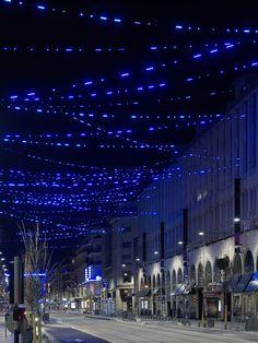 « L'Amorse du bleu » - Yann Kersalé - 2007 tramway nice
