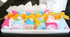 swim party birthday favors - PBK beach towels