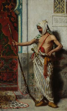 Ferenc Eisenhut (also known as Franz Xaver Eisenhut) (Hungarian/German, The Old Warrior, signed and dated 1890 Munchen, oil on panel, x Fine Art Drawing, Daily Drawing, Art Drawings, Alter Krieger, Old Warrior, Muslim Pictures, Baroque Painting, Arabian Art, Exotic Art