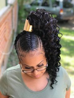 Jingles Hair Supply: Virgin Hair Bundles / Lace CLosure and Frontal / Lace Wig… - Black Girl Hair Styles Hair Ponytail Styles, Black Ponytail Hairstyles, Braided Ponytail Hairstyles, Sleek Ponytail, My Hairstyle, Braided Hairstyles, Curly Hair Styles, Natural Hair Styles, Side Ponytails