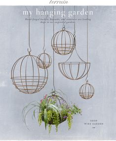 Hanging planters at terrain.com. Love them.