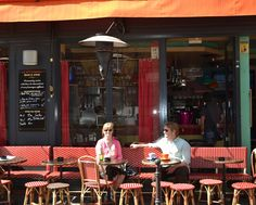 """Pause Cafe, Paris, France. """"There are sprawling pavement cafes all around the impressive Place de la Bastille, but to really put your finger on the pulse of this cool """"quartier"""", search out Pause Cafe. With its sunny terrace, this is the perfect spot to chill out with a lazy breakfast of orange pressée, café au lait and melt-in-the-mouth croissants."""" -- http://www.theguardian.com/travel/2009/apr/15/paris-pavement-cafes-bars-france"""