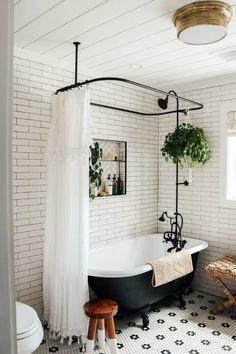 Home Renovation, Home Remodeling, Bathroom Remodeling, Small Bathroom Renovations, Clawfoot Tub Bathroom, Concrete Bathroom, Bath Tub, Bathroom Faucets, Bathroom Showers