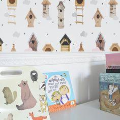 Bird Houses wallpaper Dekornik Home Wallpaper, Bird Houses, Toy Chest, Storage Chest, Toys, Furniture, Instagram, Home Decor, Activity Toys