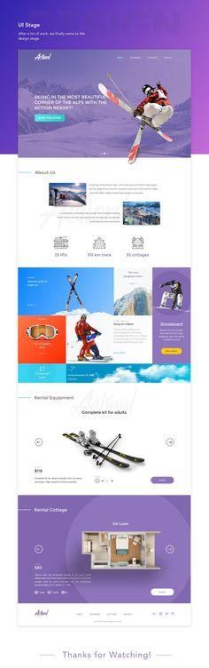 Ski Resort Landing Page on Behance #skiresorts