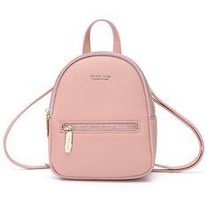 New Designer Fashion Women Backpack Mini Soft Touch Multi-Function Small Backpack Female Ladies Shoulder Bag Girl Purse, Dk Pink Retro Backpack, Small Backpack, Mini Backpack, Backpack Bags, Mini Bag, Fashion Backpack, One Shoulder Backpack, Shoulder Bag, Shoulder Straps