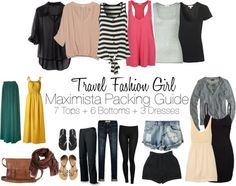 The Maximista Packing List: good travel fashion blog....use for packing light for lots of different trips