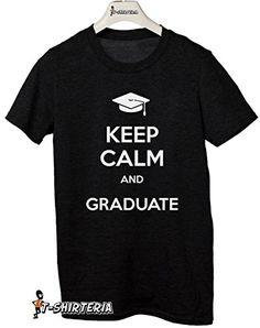 """t-shirt """"Keep calm and GRADUATE"""" grado de mujer todas las tallas by tshirteria Camiseta para hombre negro Talla:XL (9-11 años) #camiseta #starwars #marvel #gift"""