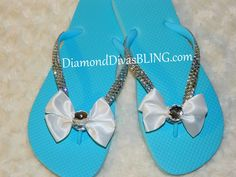 rhinestone bow sandals www.DiamondDivasBLING.com ♥ LIKE ♥ our page today! ♥ www.facebook.com/DiamondDivasBLING ♥ Rhinestone Sandals, Rhinestone Bow, Bow Sandals, 3 Shop, Washer Necklace, Flip Flops, Bling, Facebook, Shopping