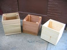 MOUND: Easy Wooden Planters