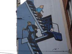 Fachada homenage a Hergé Bruselas