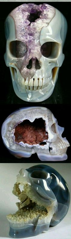 "Crystalized skull.     (""wow."")"