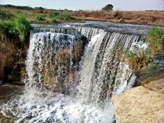 Travel to Wadi El Rayan; Wadi El-Rayan is a small valley southwest of the Fayoum oasis.  #Egypt #Fayoum #Waterfalls #Tours #Trips