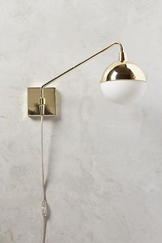 Anchored Orb One-Arm Sconce