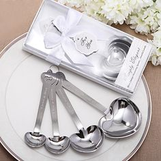 "Simply Elegant ""Love Beyond Measure"" Heart-Shaped Measuring Spoons in Gift Box(4 Pieces) – USD $ 2.99"