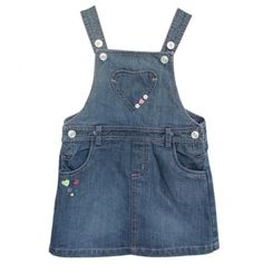 Denim Overall Dress with Hearts - Beebay Girls - Events