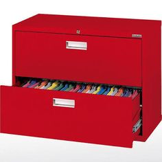 Sandusky Lee - LF6A362-01 - Lateral File, Letter/Legal, Steel, Red