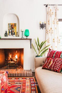 By The Fire - 16 Cozy Living Rooms We Want To Live In - Photos