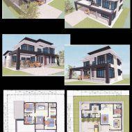 Pelan rumah banglo dua tingkat My House Plans, Floor Plans, Mansions, House Styles, Home Decor, Decoration Home, Manor Houses, Room Decor, Villas