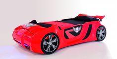 Speed Star - Rennautobett für Kinder in rot.