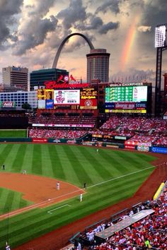 1. through sports 2. St. Louis Cardinals 3. representing the cardinals by showing the stadium but saying the rainbow of St. Louis  4. St. Louis, Missouri  5. millions