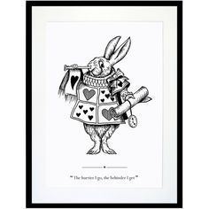 Eleanor Stuart - The White Rabbit Print ($26) ❤ liked on Polyvore featuring home, home decor, wall art, unframed wall art, white wall art, white home accessories, inspirational home decor and motivational wall art